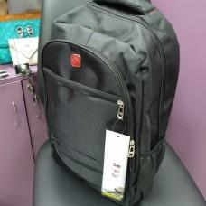 Большой рюкзак черный спортивный повседневный для ноутбука с двумя дополнительными карманами (DM82821CL)