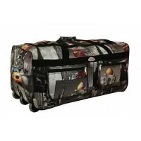 Дорожная сумка на колесах серая Города (DM10984MW)