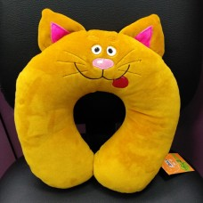 Дорожная подушка Котик горчичного цвета (DM220014KZ)