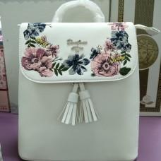 Небольшой городской рюкзак белый David Jones (DM58623TCL)