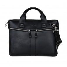 Деловая черная кожаная сумка мужская и женская (DMB260100IH)
