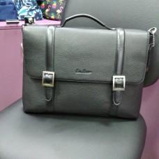 Деловая черная кожаная сумка мужская и женская (DMB260101IH)