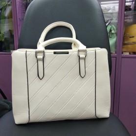 Женская сумка молочная светлая каркасная (DMBH910CL)