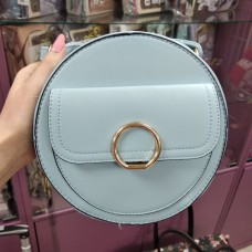 Женская сумка круглая голубая кожзам (DMCM5059CL)