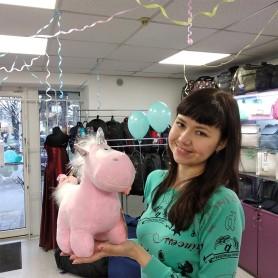 Мягкая игрушка Единорог розовый с белой гривой Пышка (DM2200121KZ)