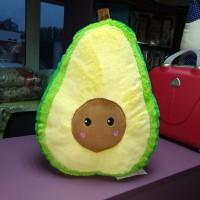 Мягкая большая пушистая желтая зеленая игрушка-подушка Авокадо (DM22001416KZ)