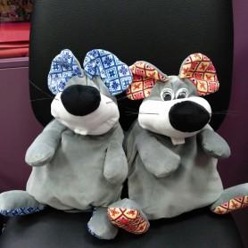 Рюкзак-игрушка серый Мышонок  (DM220029KZ)