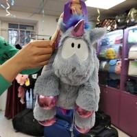 Рюкзак-игрушка серый Единорог мягкий для малышей  (DM2200291KZ)