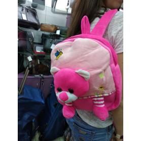 Рюкзак-игрушка для малышей мягкий розовый Медведь Мишка (DM24421-02lB)