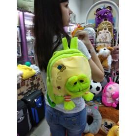 Рюкзак-игрушка для малышей мягкий Лягушонок салатный (DM24422-02lB)