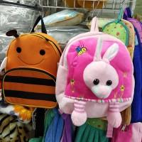 Рюкзак-игрушка для малышей мягкий розовый Зайка  (DM24424-02lB)