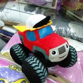 Мягкая игрушка Красная тачка-машина с большими колесами и в кепке (DM249551KZ)