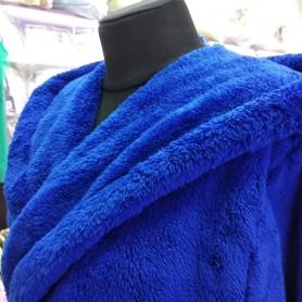Махровый халат синий женский электрик (DM2200522IT)
