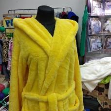 Махровый халат желтый женский  (DM2200524IT)