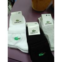 Белые носки, черные носки, серые носки Lakoste короткие 41-45 размер (DM220068NS)