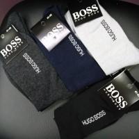 Мужские носки Boss (Huggo Boss) коттон обычные высокие (DM220072NS)