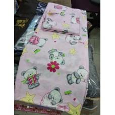 Комплект постельного белья детский в кроватку Панда розовый (DM1101407TT)