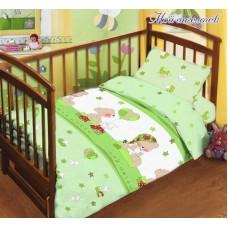 Комплект постельного белья детский в кроватку салатный Мой ангелочек (DM1101408TT)