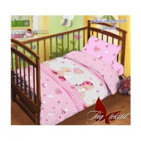 Комплект постельного белья детский в кроватку Мой ангелочек розовый (DM11014081TT)