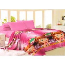 Плед розовый 160х220 см  принцесса София Прекрасная для девочки (DMVL8122TT)