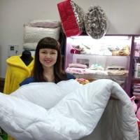 Одеяло двухспальное евро холофайбер хлопок 200*210 см  (DM4416KR)