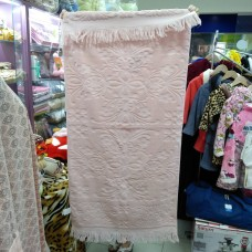 Банное полотенце розовое хлопок Турция с бахромой  (DM5090123DM)