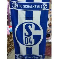 Полотенце пляжное синее для мужчин футбол Шальке хлопок Турция (DM5090133DM)