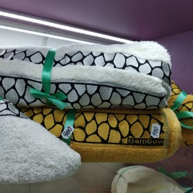 Банное полотенце желтое горчичное Бамбук Турция (DM5090135DM)