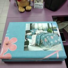 Постельное бельё двуспальное 180*220 ранфорс хлопок розовое синее Розовый фламинго (DM11528KR)