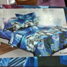 Детское постельное бельё полуторное синее 150*220 хлопок Трансформеры,Роботы (DM72511KR)